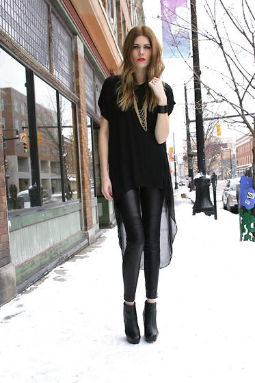 Genial und zeitlos die glanz leggings - Leggings kombinieren ...